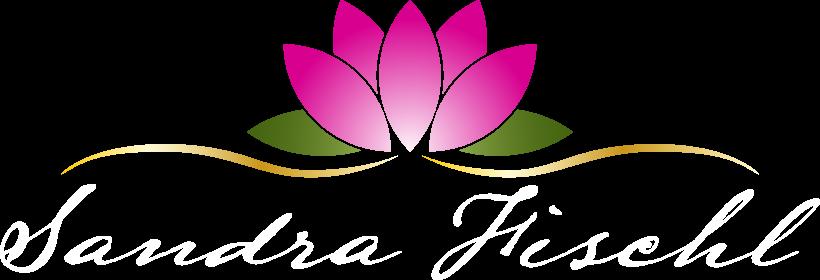 Illustrierte Blüte mit dem Schriftzug Sandra Fischl